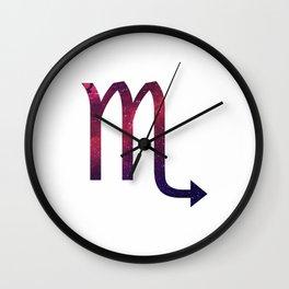 Starry Scorpio Symbol Wall Clock