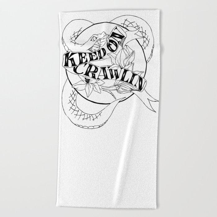 Crawling King Snake Beach Towel