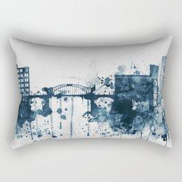 Blue Chattanooga skyline design Rectangular Pillow