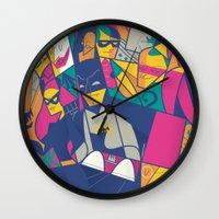 ale giorgini Wall Clocks featuring 1966 by Ale Giorgini