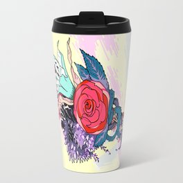 Chrysanth Wisteria & Lily - & Rose  Travel Mug