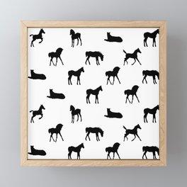 Foals All Over Pattern Framed Mini Art Print
