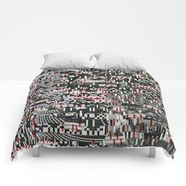Comfortable Ambiguity (P/D3 Glitch Collage Studies) Comforters