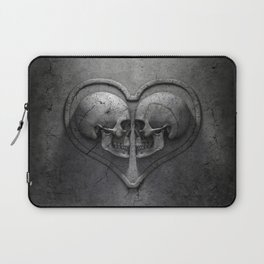 Gothic Skull Heart Laptop Sleeve