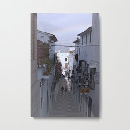 Calle Mejor, Altea, Costa Blanca, Spain. Metal Print