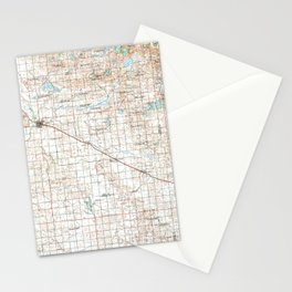 MN Willmar 805928 1986 topographic map Stationery Cards