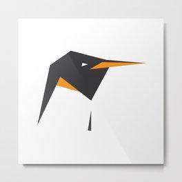 Minimalist Penguin Metal Print