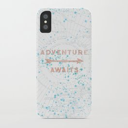 Adventure Awaits Rose Gold iPhone Case