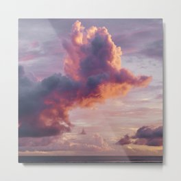 Purple Cloud Storm Metal Print