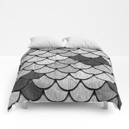 Dragon Scales with Black Outline Comforters
