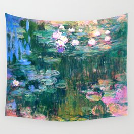 water lilies : Monet Wall Tapestry