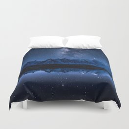 Night mountains Duvet Cover