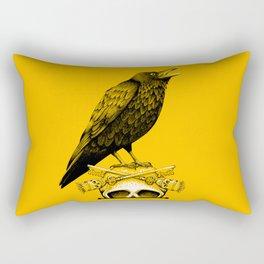 Black Crow, Skull and Cross Keys Rectangular Pillow
