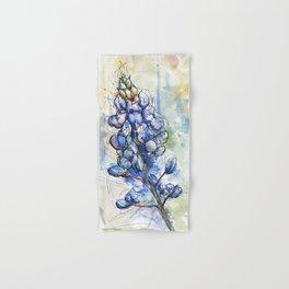 Spring Watercolor Texas Bluebonnet Flowers Hand & Bath Towel