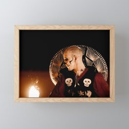 Mariachi Fire Dance - Day of the Dead Framed Mini Art Print