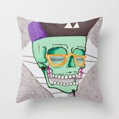 Hell Yeah Skull 3 Throw Pillow