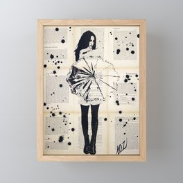 Nothing underneath the shade - Ink painting Framed Mini Art Print