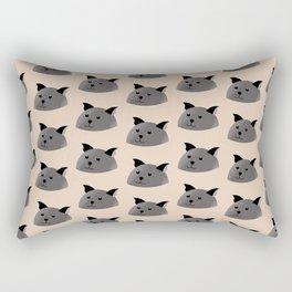 Cats Head Rectangular Pillow