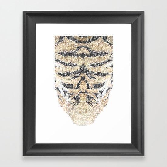 Tiger Head Framed Art Print