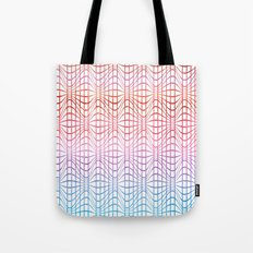 Straight and curved lines - Optical Game 19 Tote Bag