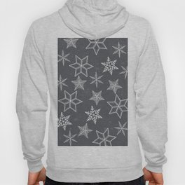 Snowflakes on grey background Hoody