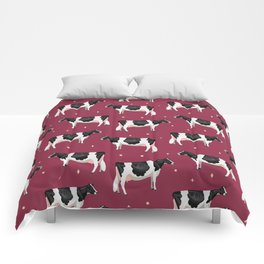 Holsteins // Cranberry Comforters