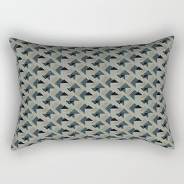 Gray And Back Triangles Rectangular Pillow