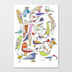 Birds. bird, pattern, animals, kids, art, design, illustration, Canvas Print
