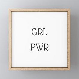 GRL PWR Framed Mini Art Print