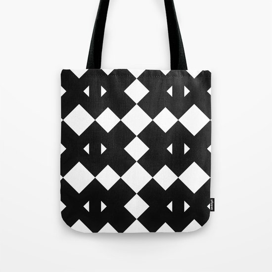 Branting Black & White Pattern Tote Bag
