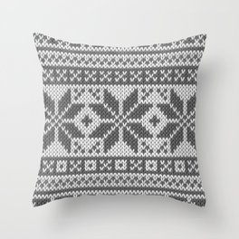 Winter knitted pattern4 Throw Pillow