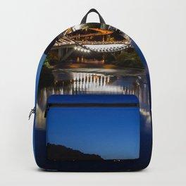 Spain Orense Galicia bridge river night time Houses Cities Bridges Night Rivers Building Backpack