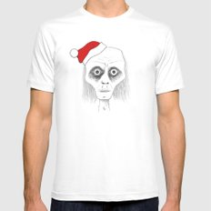 Tired Santa MEDIUM White Mens Fitted Tee