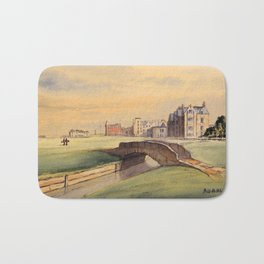 St Andrews Golf Course Scotland 18th Hole Bath Mat