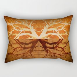 Tree Reflection of Copper Rectangular Pillow