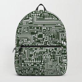 Circuit Board // Green & White Backpack