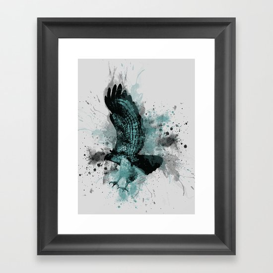 HAWK DIVE Framed Art Print