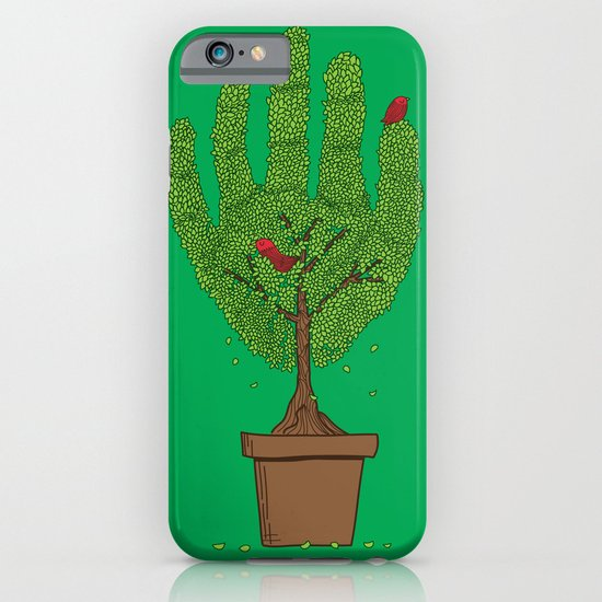 A bird in hand iPhone & iPod Case