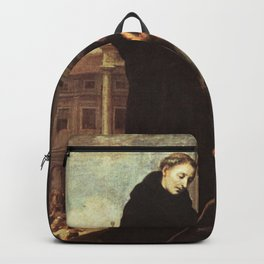 Bartolome Esteban Murillo - Thomas of Villanova heals the sick Backpack