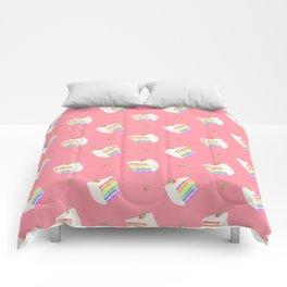 Watercolor Rainbow Cake Comforters