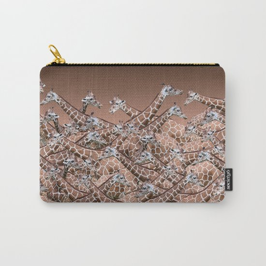 Sea of Giraffes Zippered Pouch