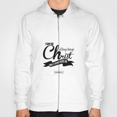 Typography Motivational Christian Bible Verses Poster - Philippians 4:13 Hoody
