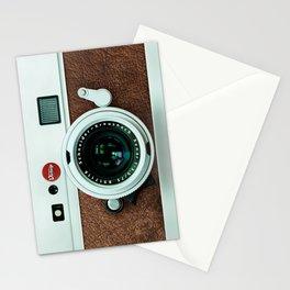 Retro vintage leather camera Stationery Cards