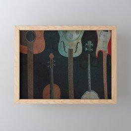 Musical Instruments Framed Mini Art Print