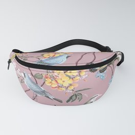 BIRDS, BLOSSOMS & BUTTERFLIES BLUSH Fanny Pack