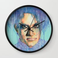 the cure Wall Clocks featuring Pastel Cure by Anne Blondie Bengard