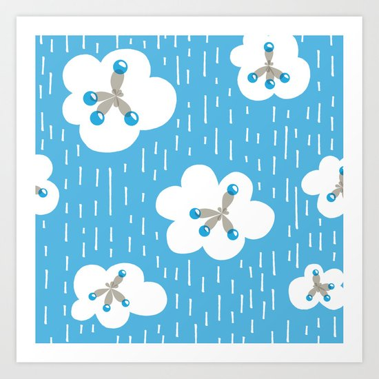 Methane Molecules And The Greenhouse Effect Art Print