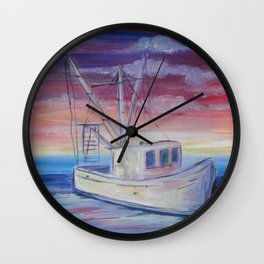 Shrimp on the Water Wall Clock