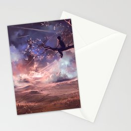 It made scars in the sky  Stationery Cards