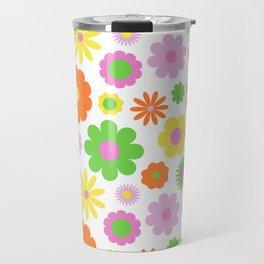 Vintage Daisy Crazy Floral Travel Mug